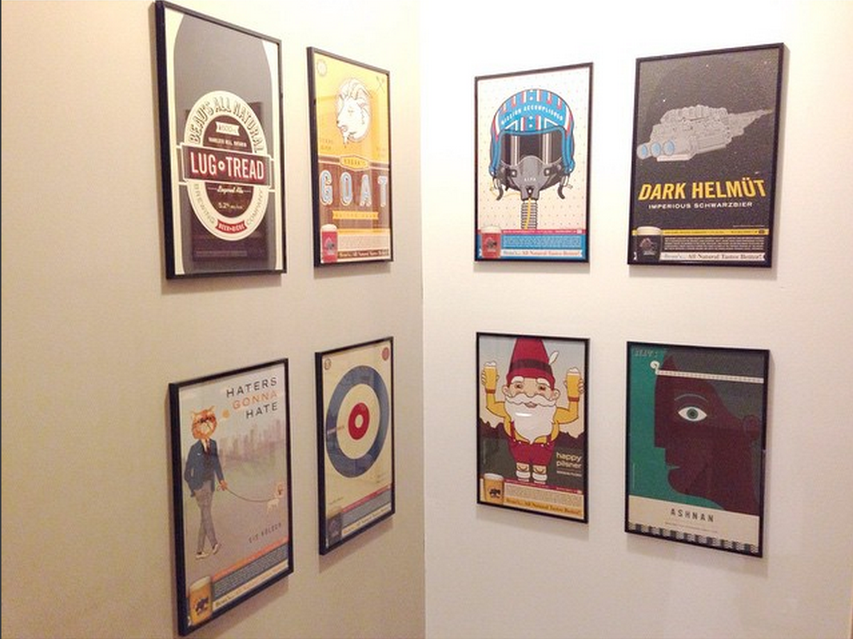 Because if you frame the beer posters, it's less frat house and more art... right?