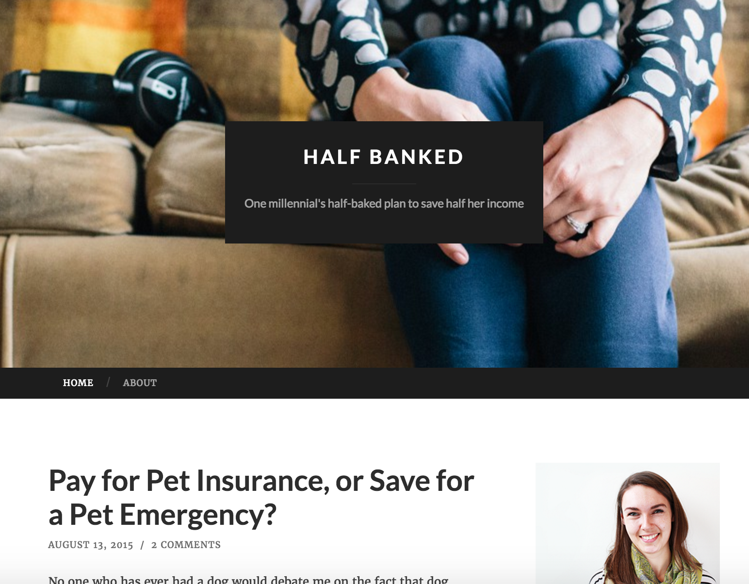 The old look of halfbanked.com, before I took it seriously! (Pro tip: you can start a blog reallllly cheaply.)