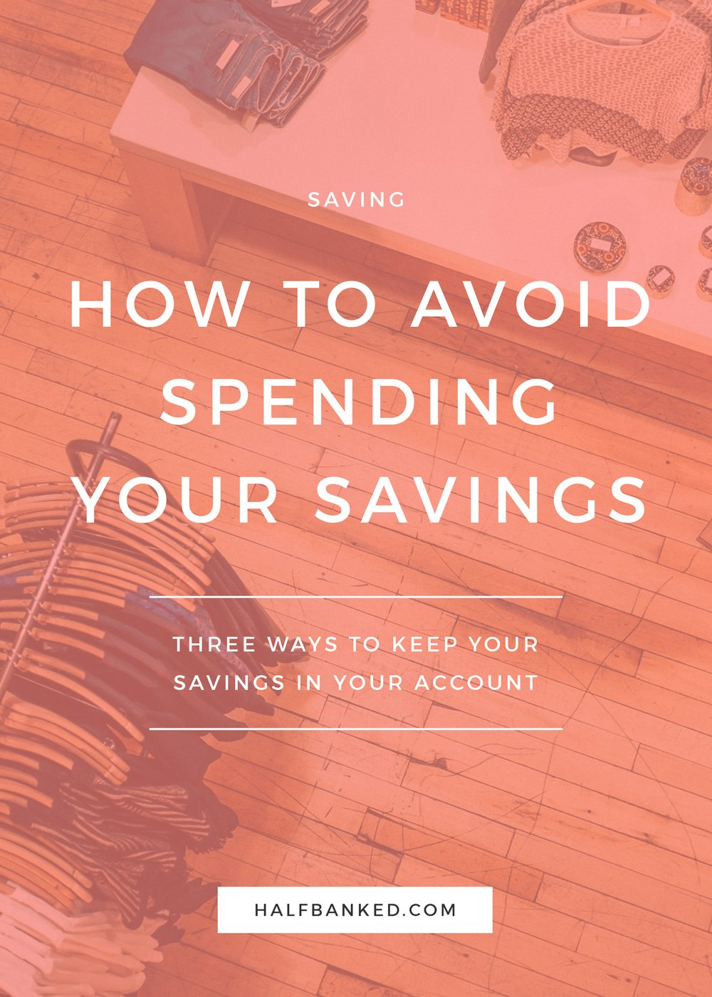 Three fool-proof ways to keep your money where you want it - in your savings account, helping you achieve your money goals. Yes, even if you have a hard time leaving it there!