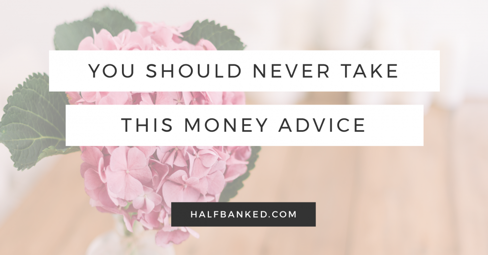 This might be the most terrible money advice I've ever heard.
