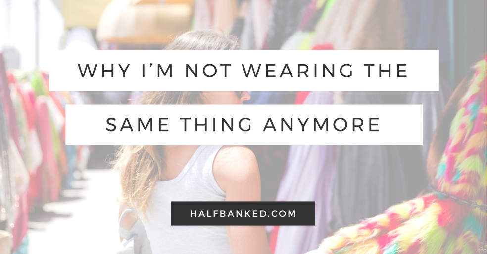 Why I'm not wearing the same thing every day anymore - and why I'd still do it all over again if I had to.