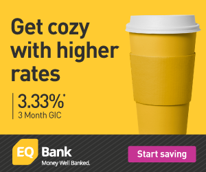EQ Bank now offers 3.3% for 3 months on GICs