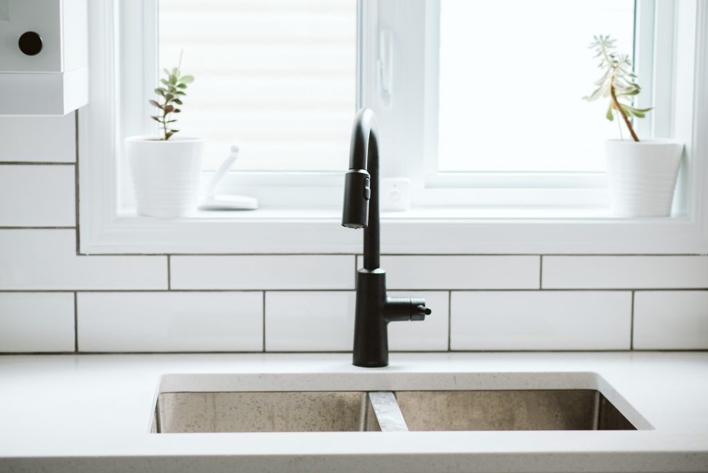 The faucet we bought for our IKEA kitchen